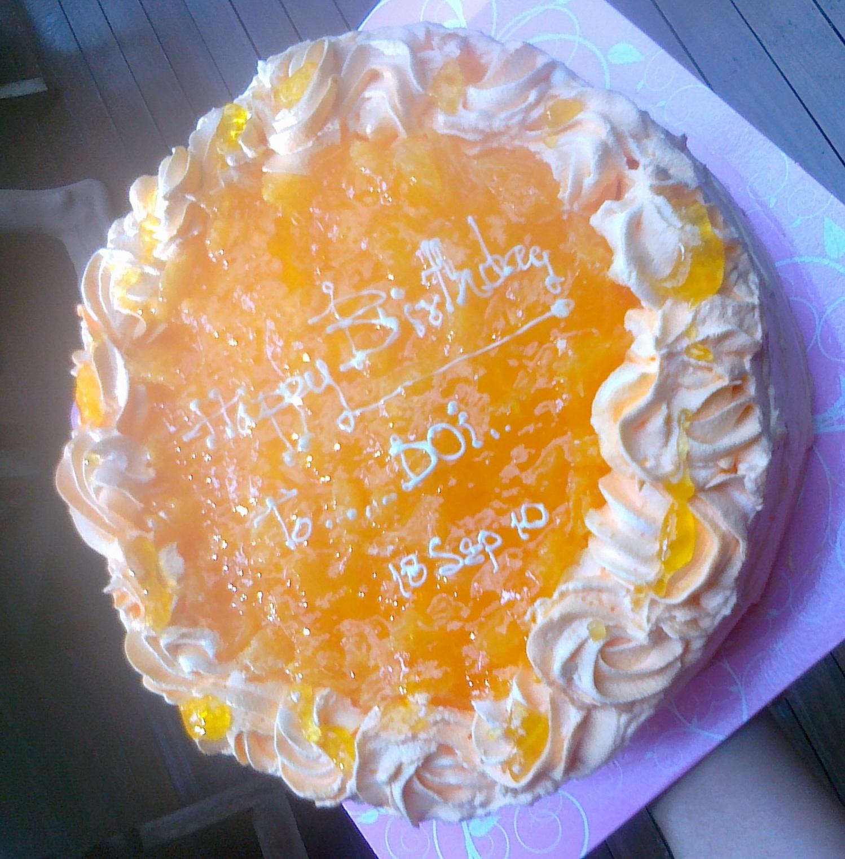 cake ส้ม ของ Mai Bakery